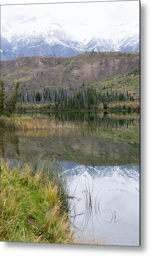 Nature Metal Print featuring the photograph Mountain Reflections by Angela Patterson
