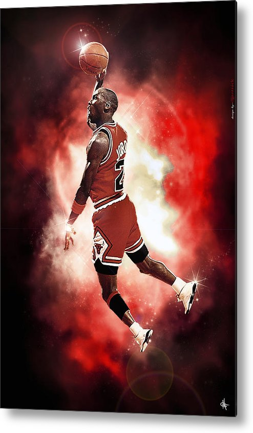 Mr. Michael Jeffrey Jordan Metal Print featuring the photograph Mr. Michael Jeffrey Jordan Aka Air Jordan Mj by Nicholas Grunas