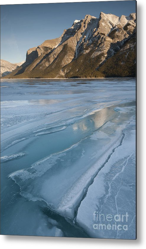 Nature Metal Print featuring the photograph Mt. Inglismaldie And Ice Formations by John Shaw