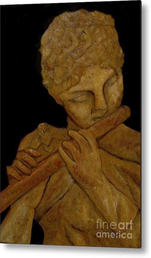 Music Metal Print featuring the painting Music In Stone by Nancy Bradley