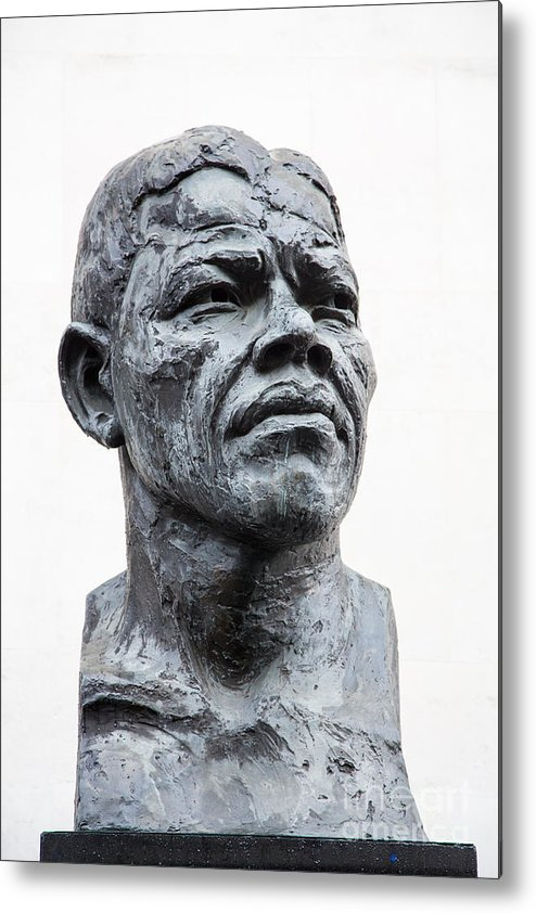 Africa Metal Print featuring the photograph Nelson Mandela Statue by Jane Rix