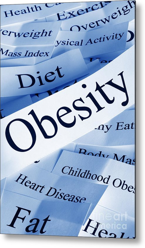 Concept Metal Print featuring the photograph Obesity Concept by Colin and Linda McKie