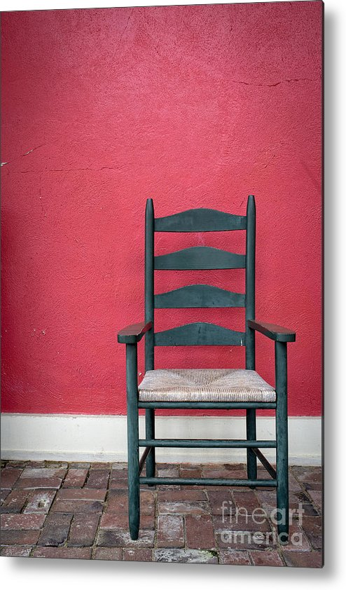 Chair Metal Print featuring the photograph Restful Spot Cornish New Hampshire by Edward Fielding