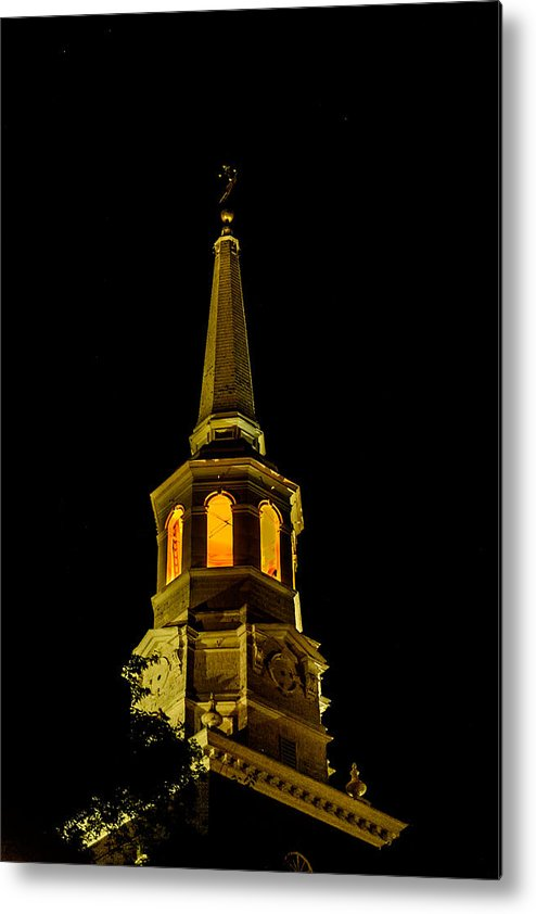 First Friday Metal Print featuring the photograph Old Christ Church by Louis Dallara