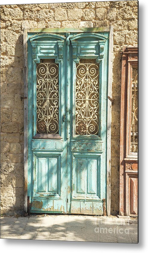 Architecture Metal Print featuring the photograph Old Door In Jersusalem Israel by Jacek Malipan
