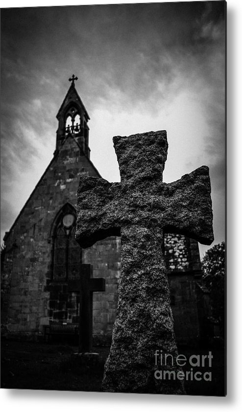 Scotland Metal Print featuring the photograph Old Scottish Church 2 by Charlene Gauld
