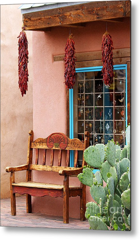 Albuquerque Metal Print featuring the photograph Old Town Albuquerque Shop Window by Catherine Sherman