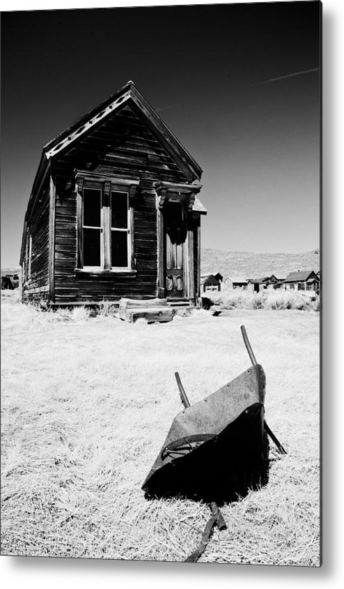 Old Metal Print featuring the photograph Old Wheelbarrow by Cat Connor