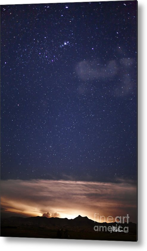 Stars Metal Print featuring the photograph Orion's Fire by Jonathan McCallum