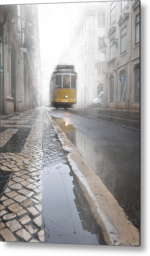Lisbon Metal Print featuring the photograph Out Of The Haze by Jorge Maia