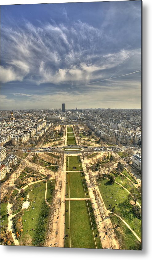 Paris Metal Print featuring the photograph Paris From Eiffeltower by Michael Nystrom