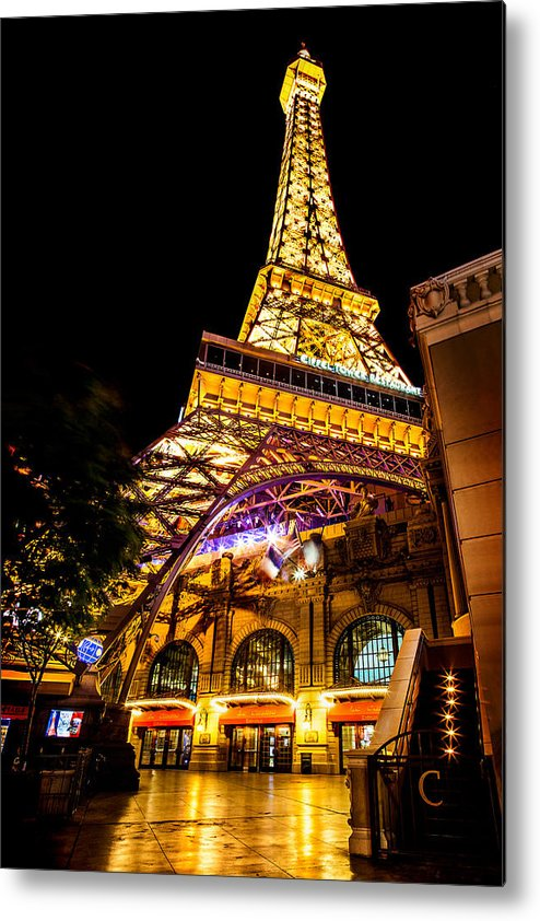 Las Vegas Metal Print featuring the photograph Paris Under The Tower by Az Jackson