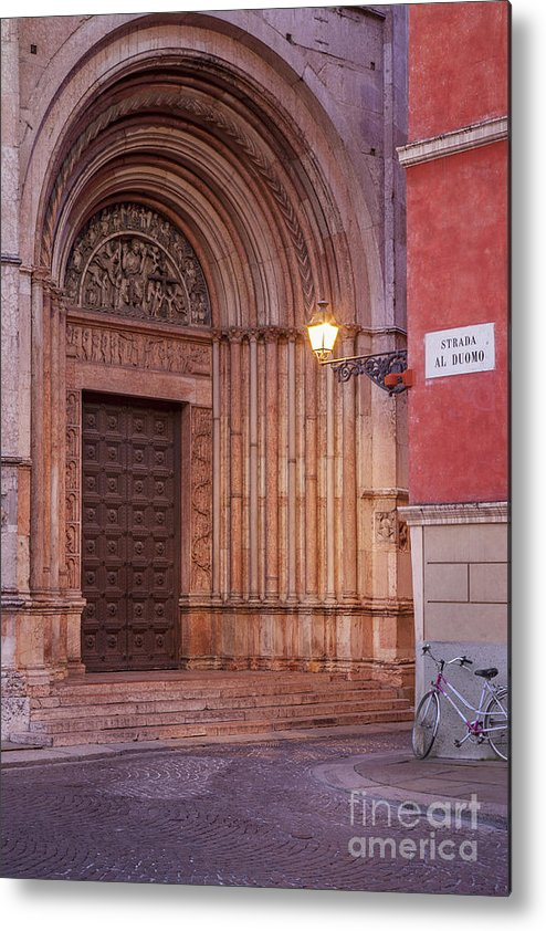 Duomo Metal Print featuring the photograph Parma Baptistery Doorway by Brian Jannsen