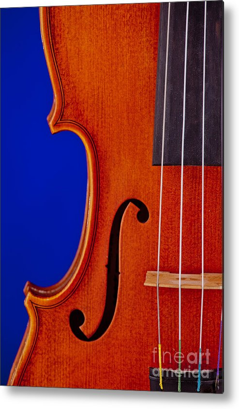 Violin Metal Print featuring the photograph Photograph Of A Viola Violin Side In Color 3372.02 by M K Miller
