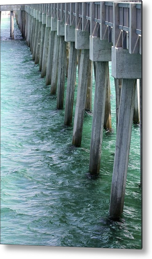 County Pier Metal Print featuring the photograph Pier Pressure by Soccer Dog Design