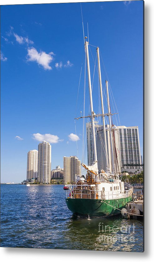 Miami Metal Print featuring the photograph Port Of Miami by Andre Babiak