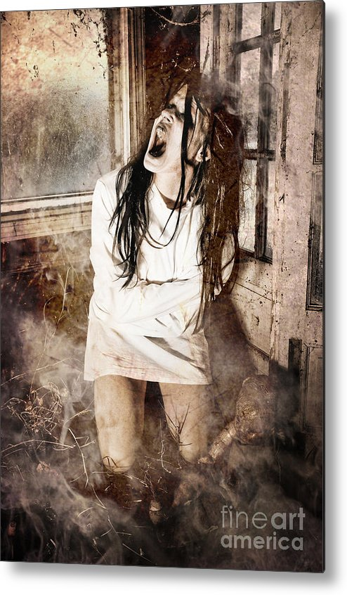 Halloween Metal Print featuring the photograph Possessed by Jt PhotoDesign