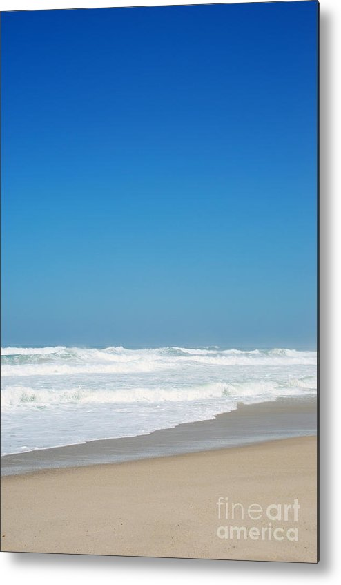 Praia Metal Print featuring the photograph Praia Del Rey Beach by Luis Alvarenga