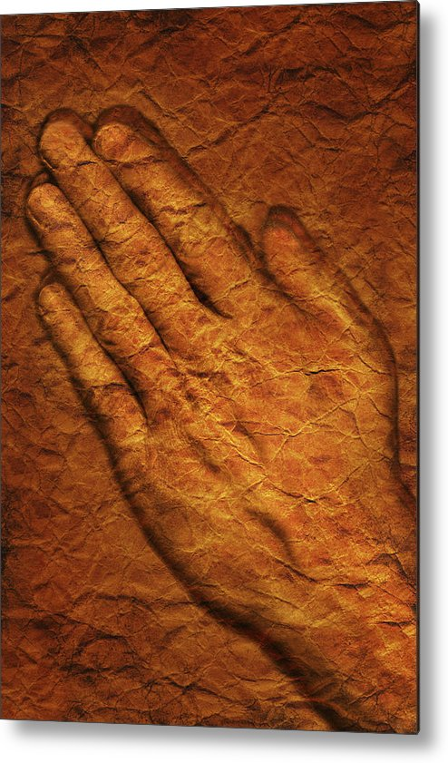 Art Metal Print featuring the photograph Praying Hands by Don Hammond
