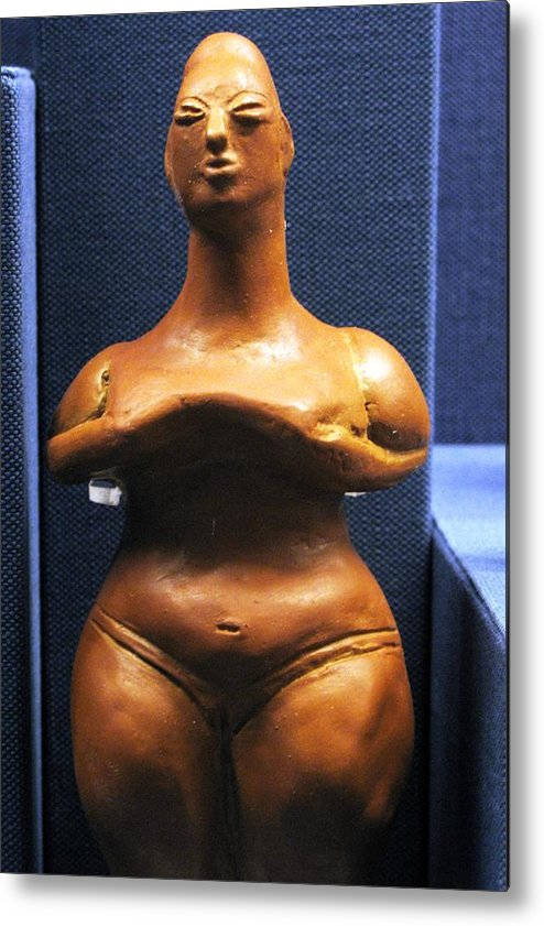 Neolithic Figurine Metal Print featuring the photograph Pregnant Woman by Andonis Katanos