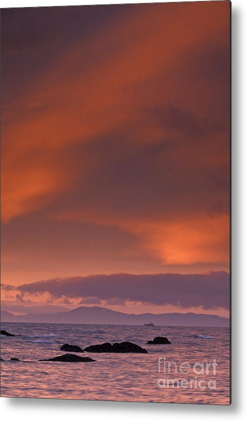 Sun Metal Print featuring the photograph Prince William Sound Sunrise by Tim Grams