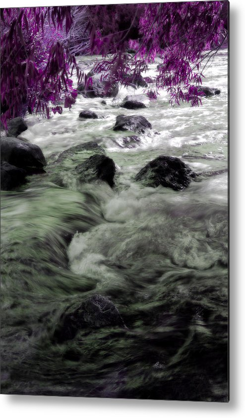 Water Metal Print featuring the photograph Purple River by Dawn Call