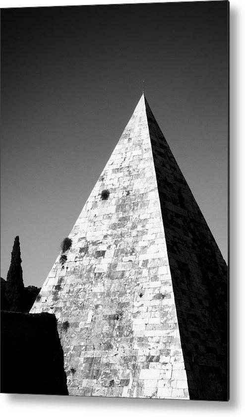 Pyramid Metal Print featuring the photograph Pyramid Of Cestius by Fabrizio Troiani