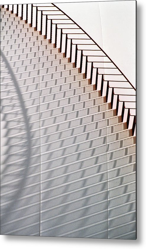 Home Decor Metal Print featuring the photograph Red Stairs by Jeff Leland