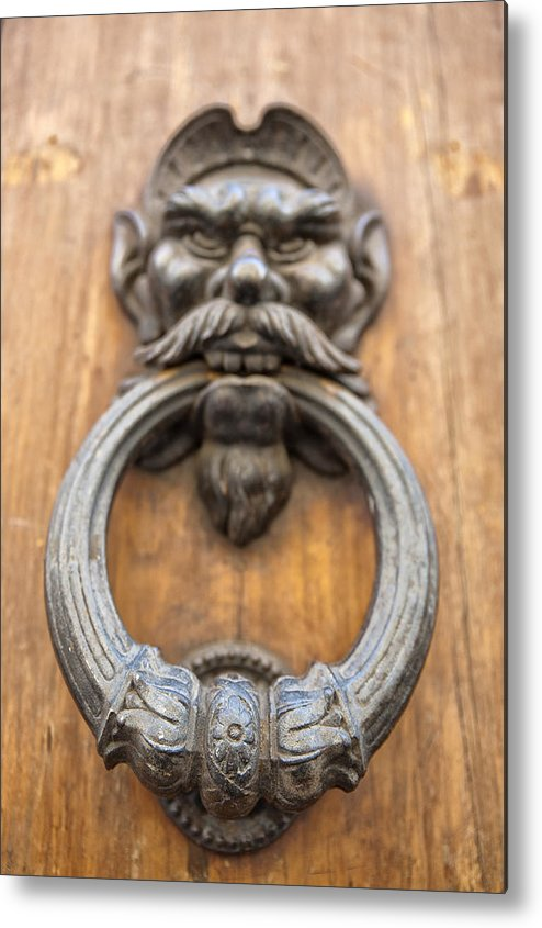 Architecture Metal Print featuring the photograph Renaissance Door Knocker by Melany Sarafis