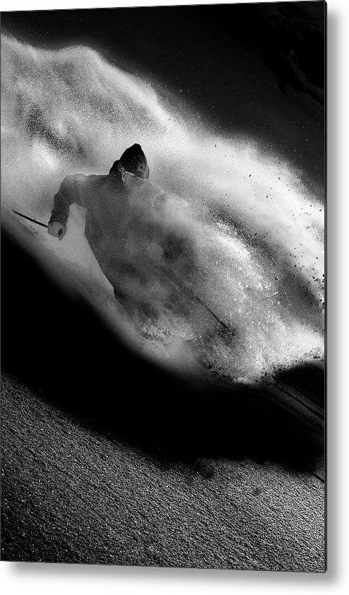 Freeride Metal Print featuring the photograph Riding by Tristan Shu