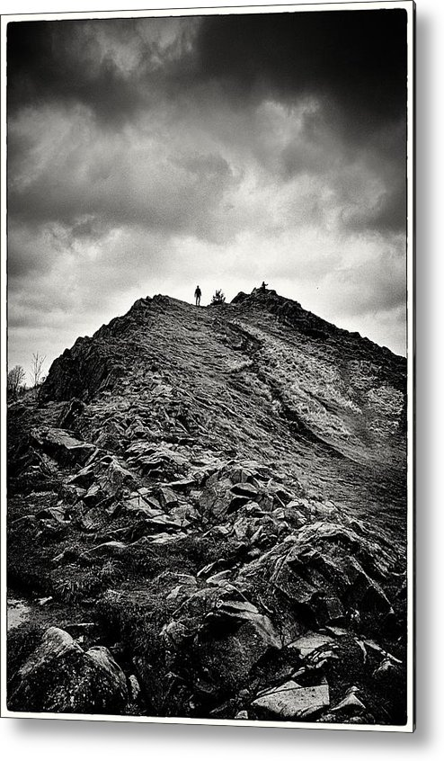 hill Top Metal Print featuring the photograph Rocky Pathway 2 by Lenny Carter