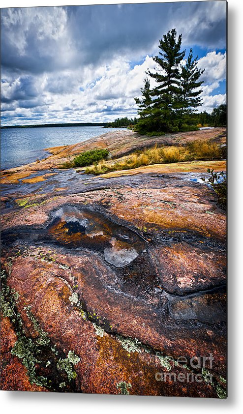 Georgian Metal Print featuring the photograph Rocky Shore Of Georgian Bay by Elena Elisseeva