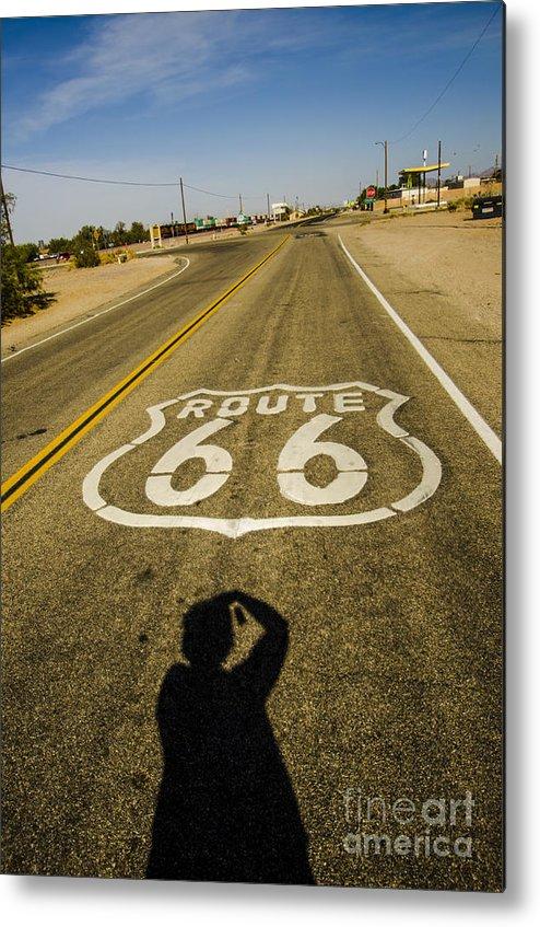 Route 66 Metal Print featuring the photograph Route 66 Daggett California by Deborah Smolinske