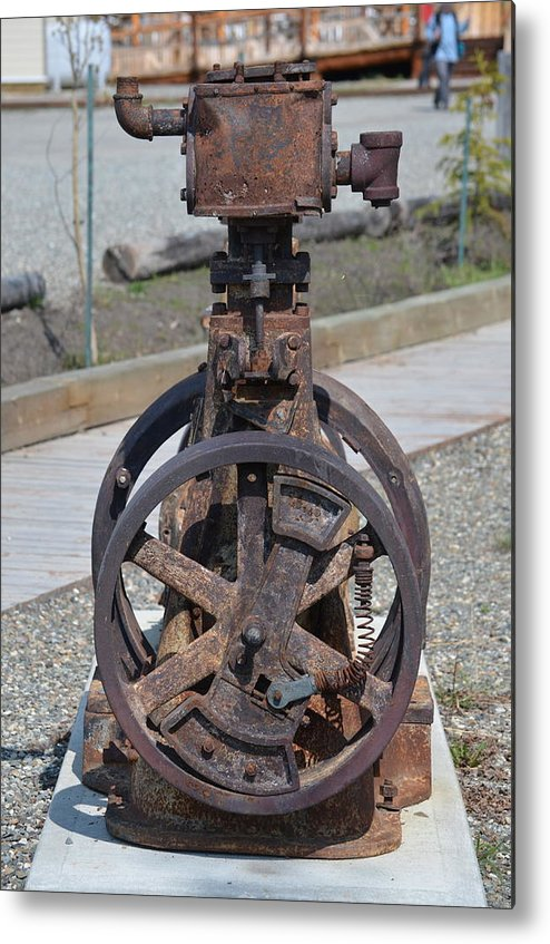 Iron Metal Print featuring the photograph Rustic Pump by Mike Hinton