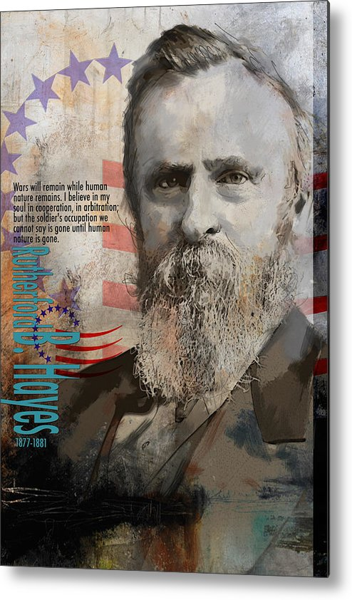 Rutherford B. Hayes Metal Print featuring the painting Rutherford B. Hayes by Corporate Art Task Force