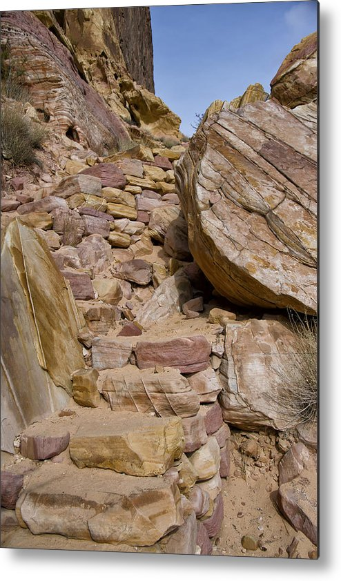 Sandstone Metal Print featuring the photograph Sandstone Steps by Debby Richards