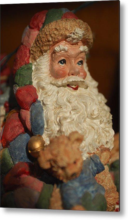 Santa Claus Metal Print featuring the photograph Santa Claus - Antique Ornament - 09 by Jill Reger