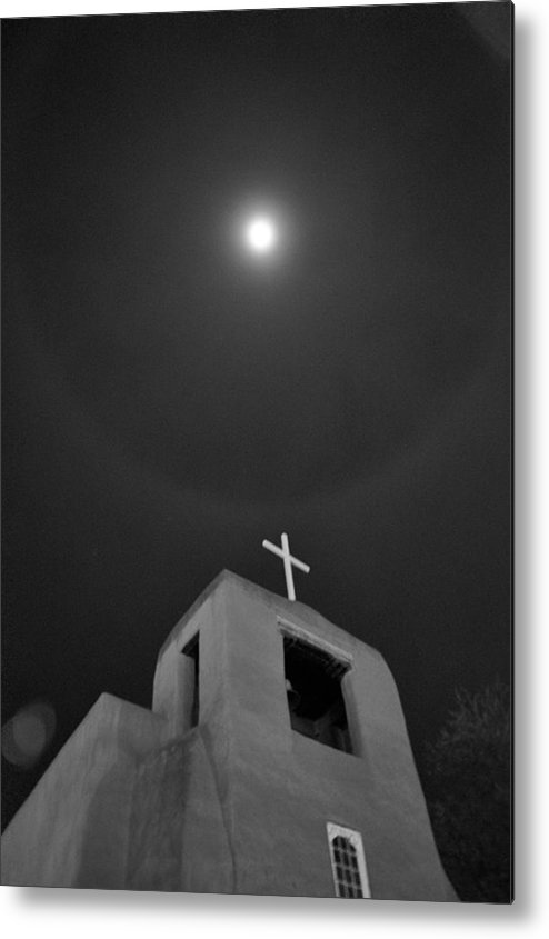 Santa Fe Metal Print featuring the photograph Santa Fe Moon by Nick Bellistri