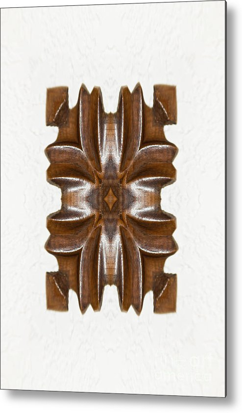 Wooden Metal Print featuring the photograph Sculpted Mandala Yantra by Marie Jamieson
