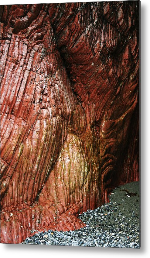Radiolarian Chert Geology Rock Formation Metal Print featuring the photograph Secret Cave by Rick and Dorla Harness