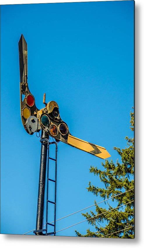 Eden Center Metal Print featuring the photograph Semaphore by Guy Whiteley