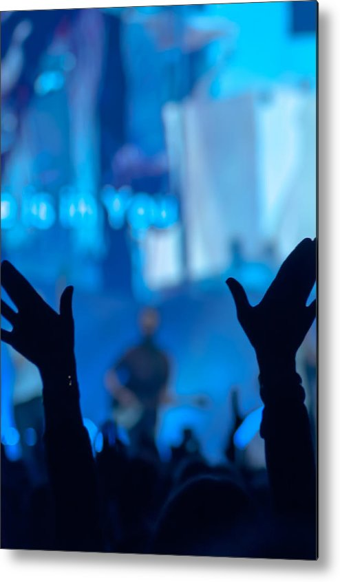 Admiration Metal Print featuring the photograph Silhouette Of Raised Hands by Chay Bewley