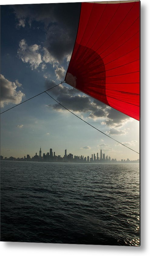 Chicago Sailing Metal Print featuring the photograph Skyline Sail by Polina Goncharova
