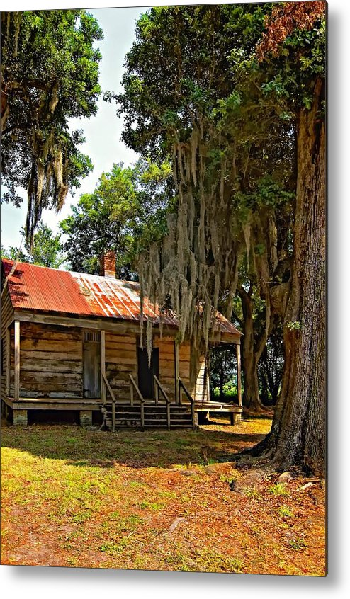 Evergreen Plantation Metal Print featuring the photograph Slave Quarters by Steve Harrington