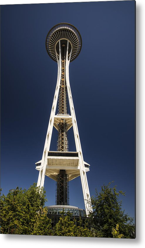 Photography Metal Print featuring the photograph Space Needle by Lee Kirchhevel