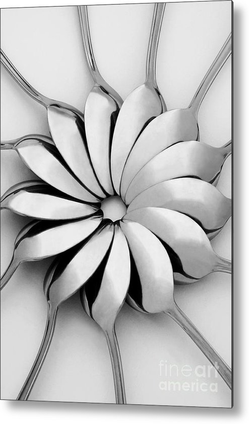 Spoon Metal Print featuring the photograph Spoons I by Natalie Kinnear