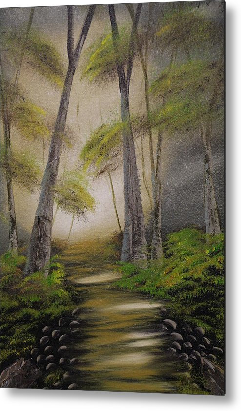 Spring Metal Print featuring the painting Spring Path by Victor Alderson