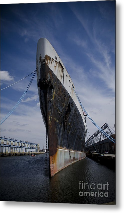 Ship Metal Print featuring the photograph Ss United States By Jessica Berlin by Jessica Berlin