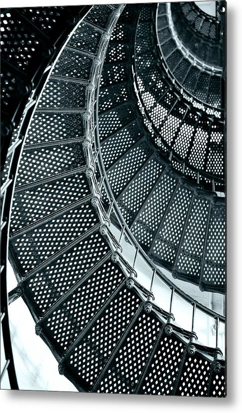 Saint Metal Print featuring the photograph St Augustine Lighthouse Staircase by Christine Till