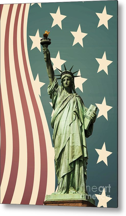 America Metal Print featuring the photograph Statue Of Liberty by Juli Scalzi